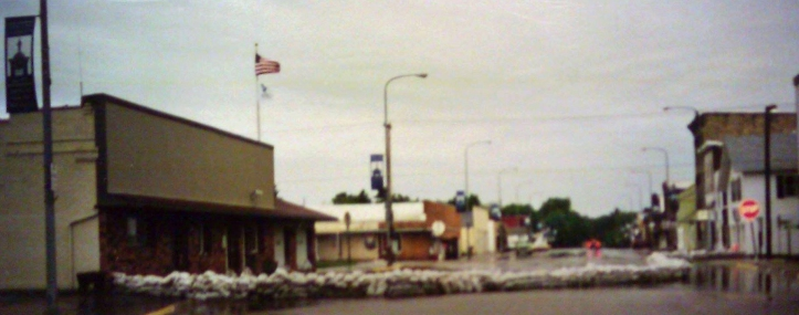 Fayette's Main Street, post-flood.