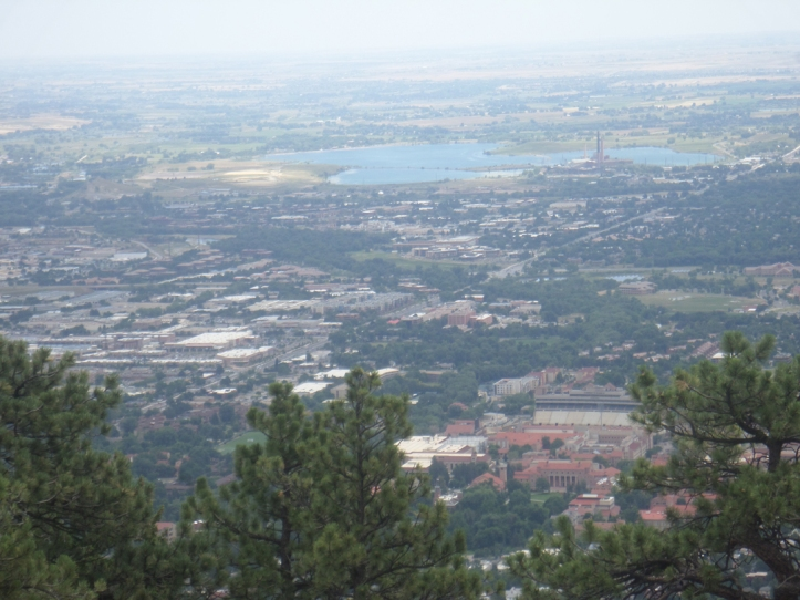 A breathtaking view of Boulder from high up on Flagstaff Mountain.