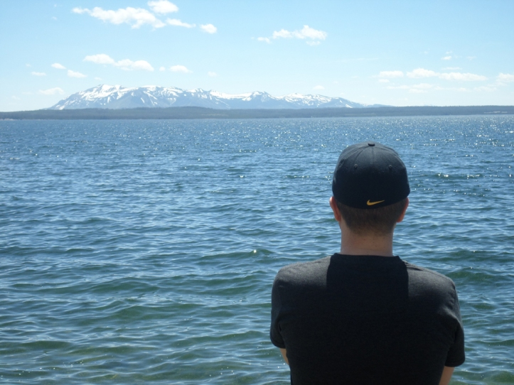Yellowstone Lake, located (appropriately enough) in Yellowstone National Park.