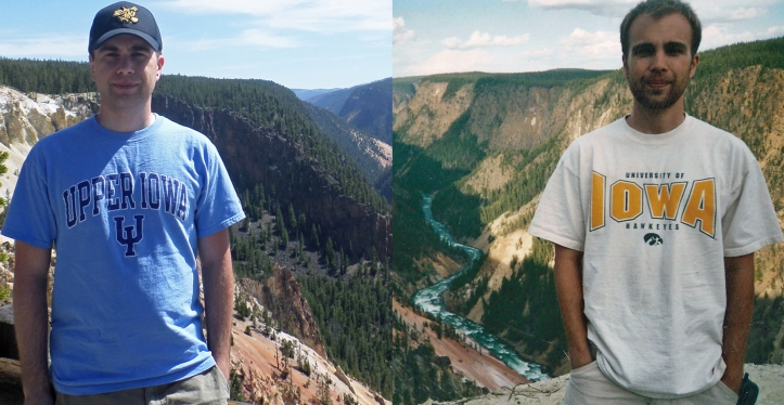 Yellowstone: 10 years apart.