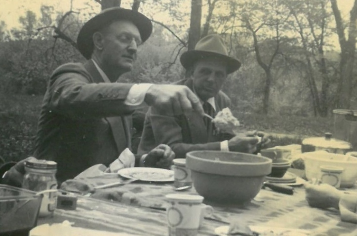 1949 - Oscar Kinler and Otis Siver - Mother's Day at Wapsipinicon Park