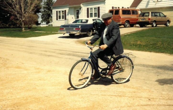 1990 Easter riding bike