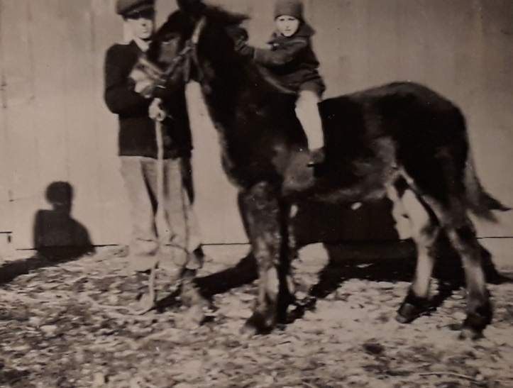 1920s with uncle arthur siver on colt