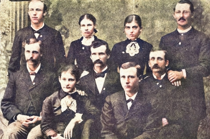 1881 senior class - prez cp colegrove center row left