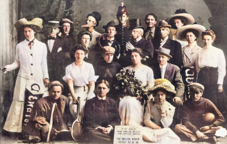 1910 senior class play - the college widow